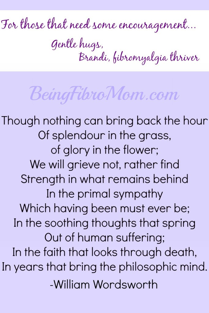 Wordsworth poem #fibromyalgia #Wordsworth #poems