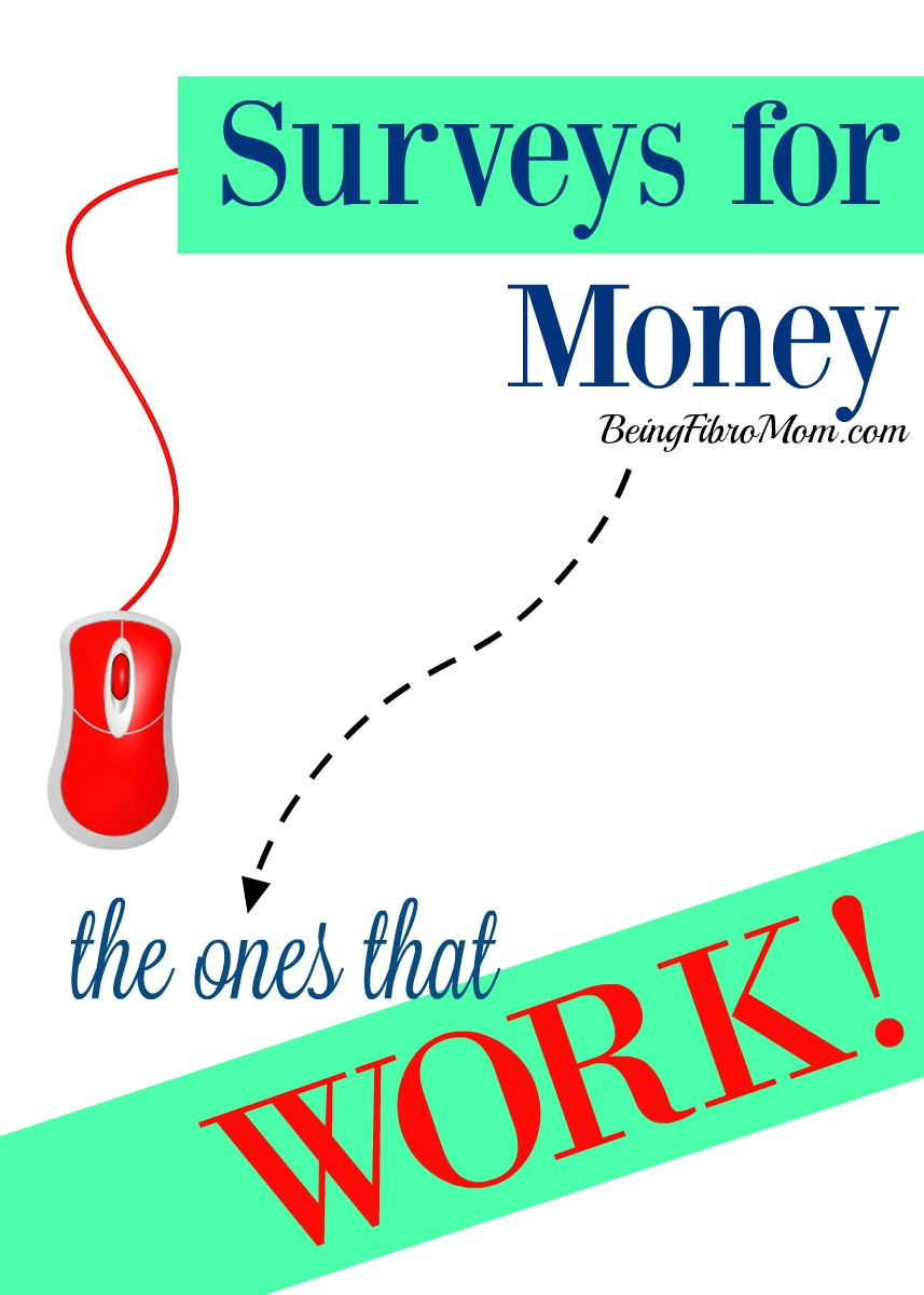 surveys for money - the ones that work! #surveys #frugal #frugalliving