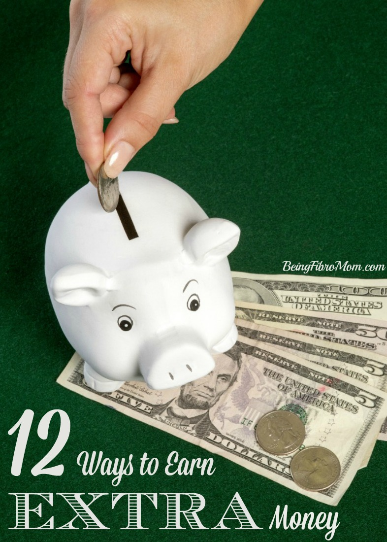 Frugal Living with Fibro: 12 Ways to Earn Extra Money #FibroLiving