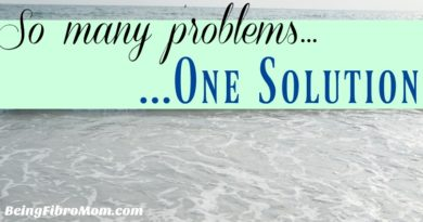 So many problems...one solution #beingfibromom #chronicillness