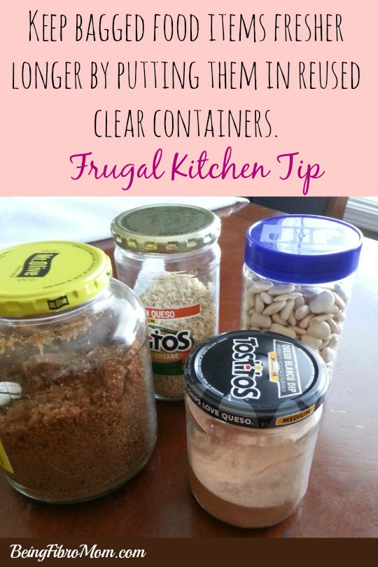 bagged items in clear containers