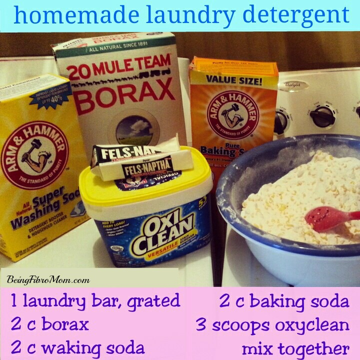 homemade laundry detergent updated