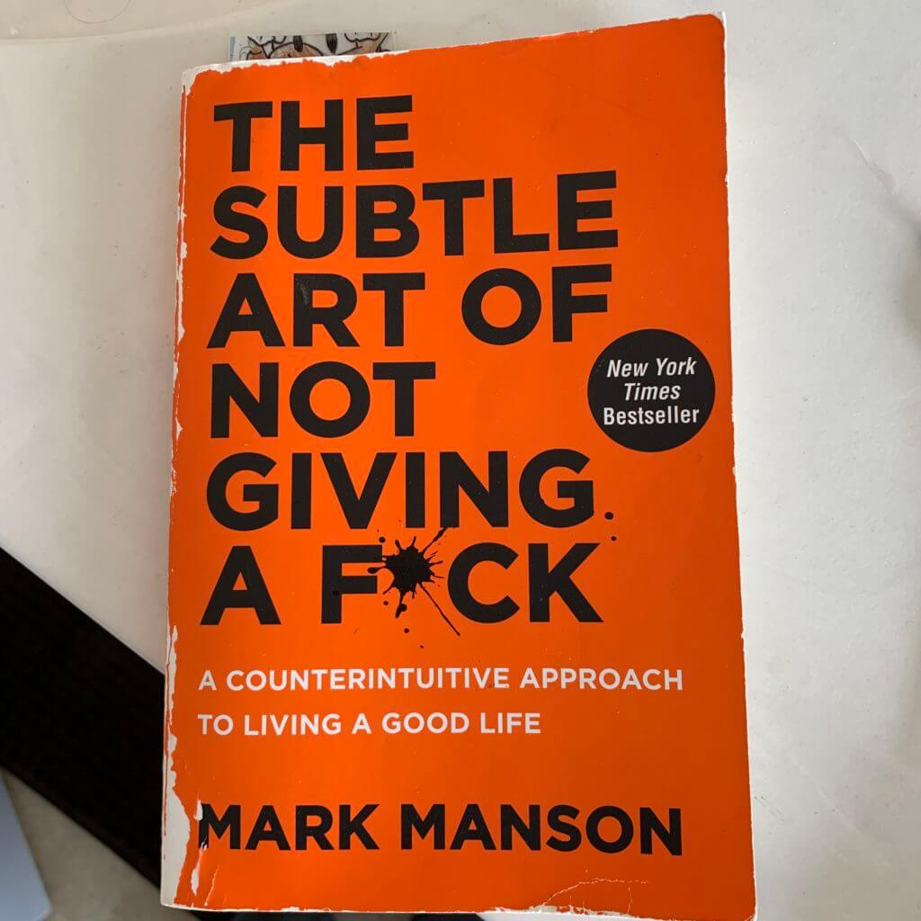 The Subtle Art of Not Giving a Fck by Mark Manson #beingfibromom #boundaries