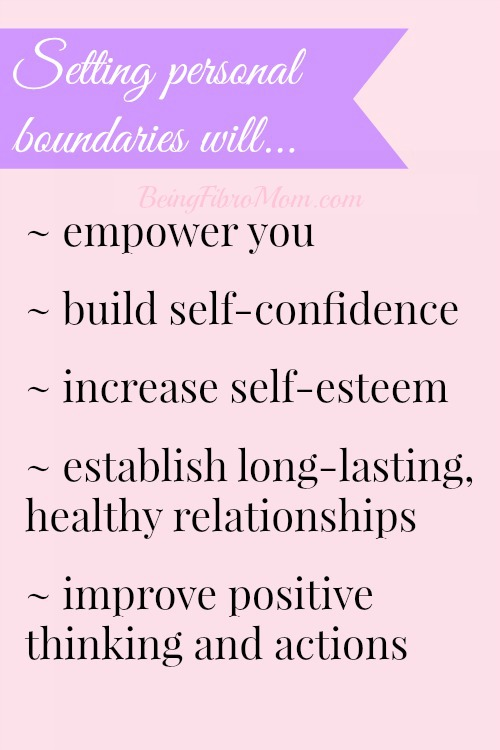 Why you should set boundaries - How to do it and NOT feel guilty! #sayno #settingboundaries #fibromyalgia #chronicpain