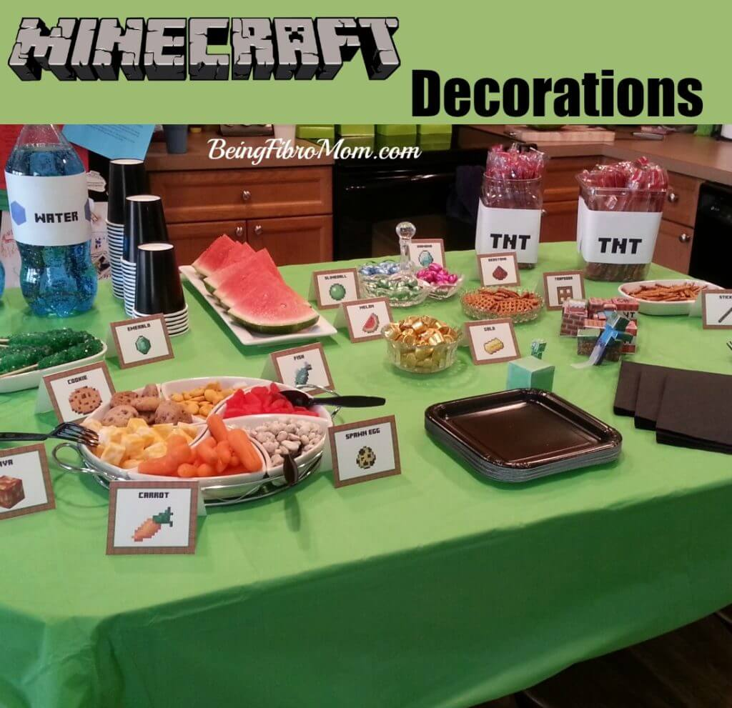 Diy Minecraft Birthday Party Printables And Instructions Being Fibro Mom