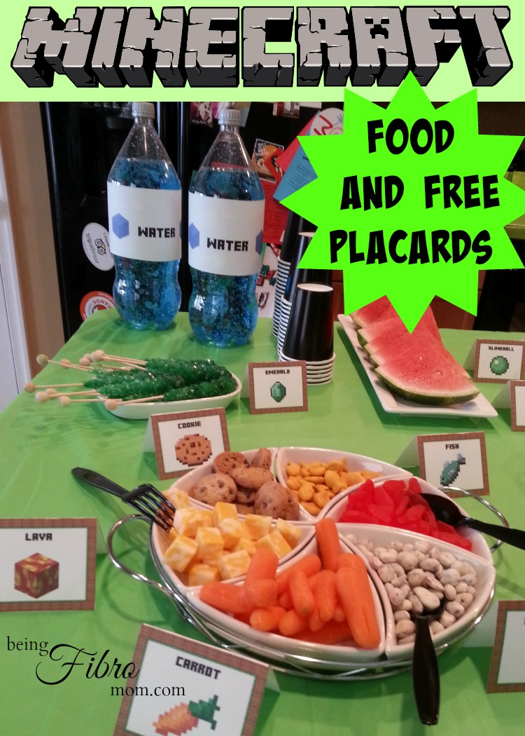 photo regarding Minecraft Free Printable Food Labels titled Minecraft Celebration Meals In addition Cost-free Printables
