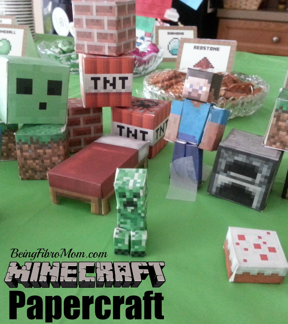 Minecraft Birthday Party Printables Decorations And Food - Minecraft party spiele