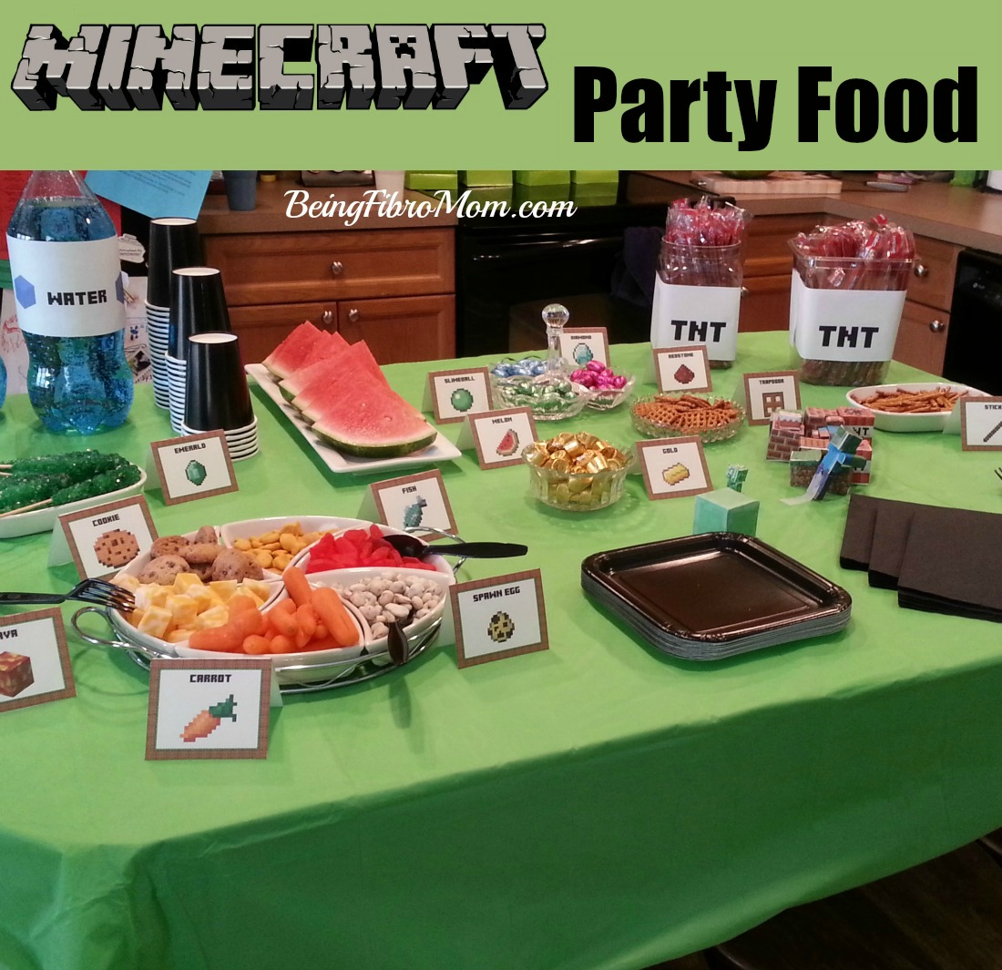 Minecraft party food #minecraft #minecraftparty #minecraftpartyfood