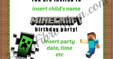DIY Minecraft Birthday Printables #minecraft #minecraftbirthday #beingfibromom