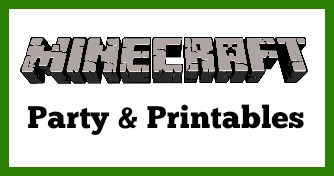 DIY Minecraft Birthday Printables #minecraft #minecraftbirthday #beingfibromom