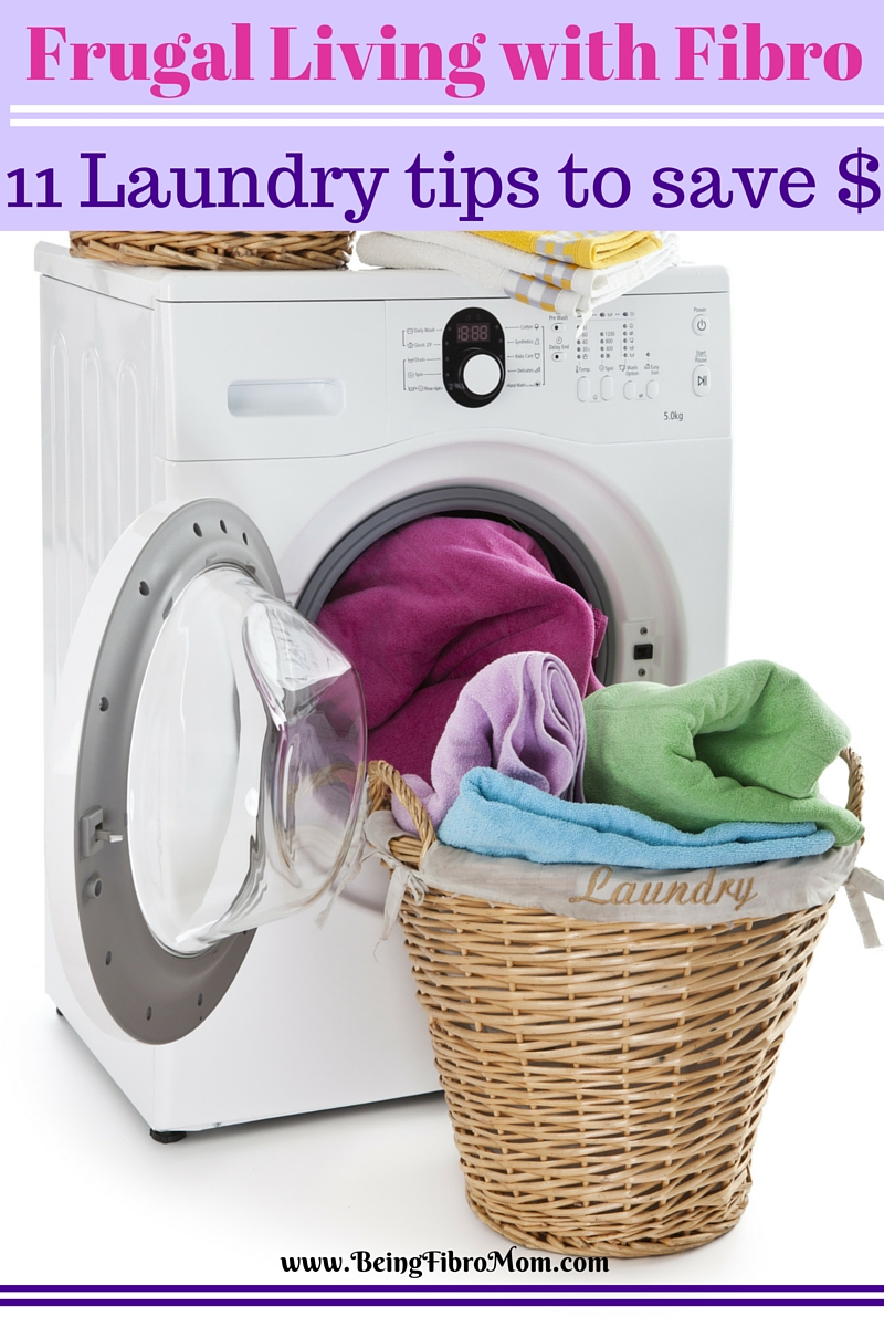 Frugal Living with Fibro: 11 Laundry tips to save money #FibroLiving