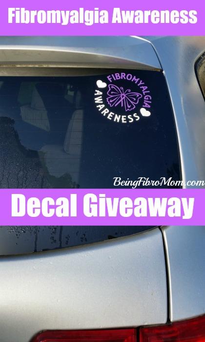Fibromyalgia Awareness Decal Giveaway #fibromyalgia #fibromyalgiaawareness #decal #giveaway