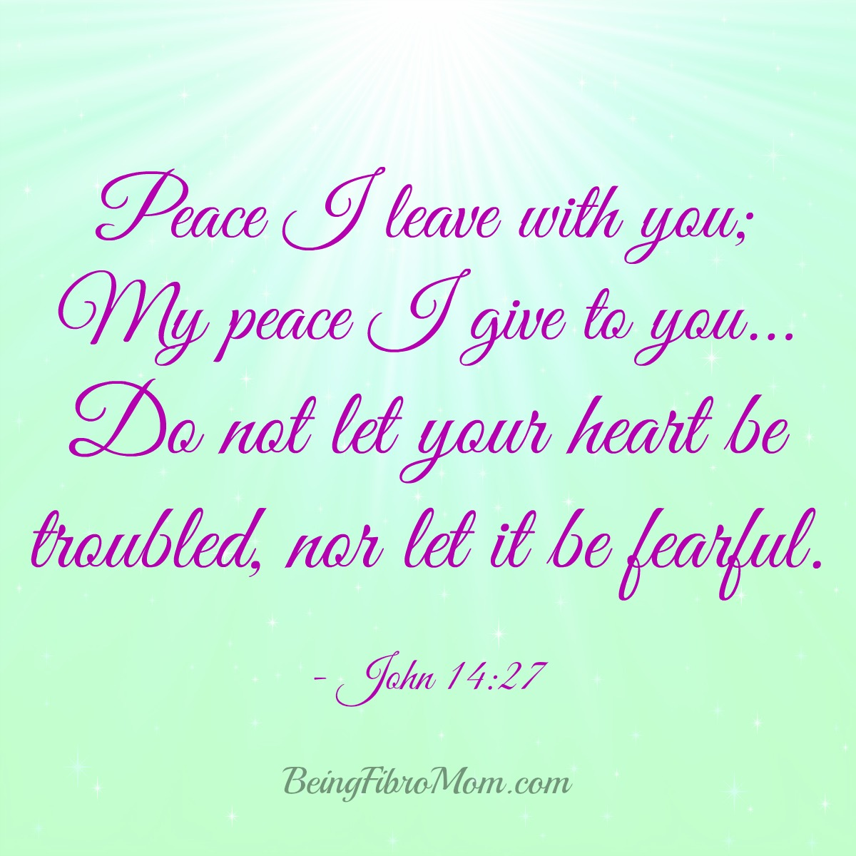 Peace I leave with you - John 14:27 #inspirational #Christian