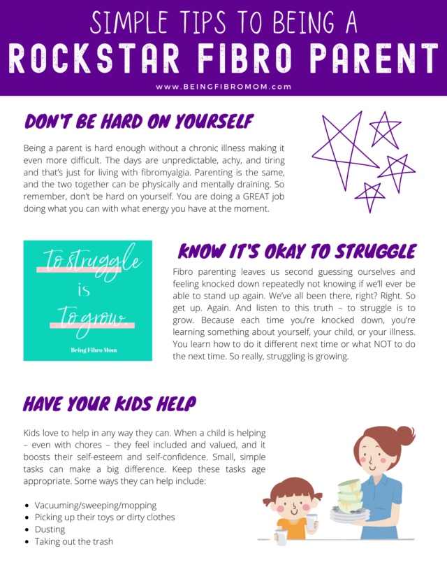 Simple tips to be a rockstar fibro parent #beingfibromom #beingfibromom