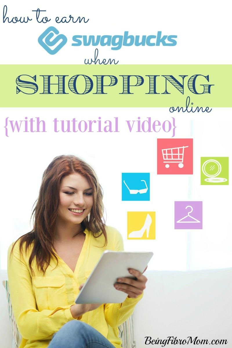How to Earn Swagbucks When Shopping Online with tutorial video #Swagbucks #BeingFibroMom