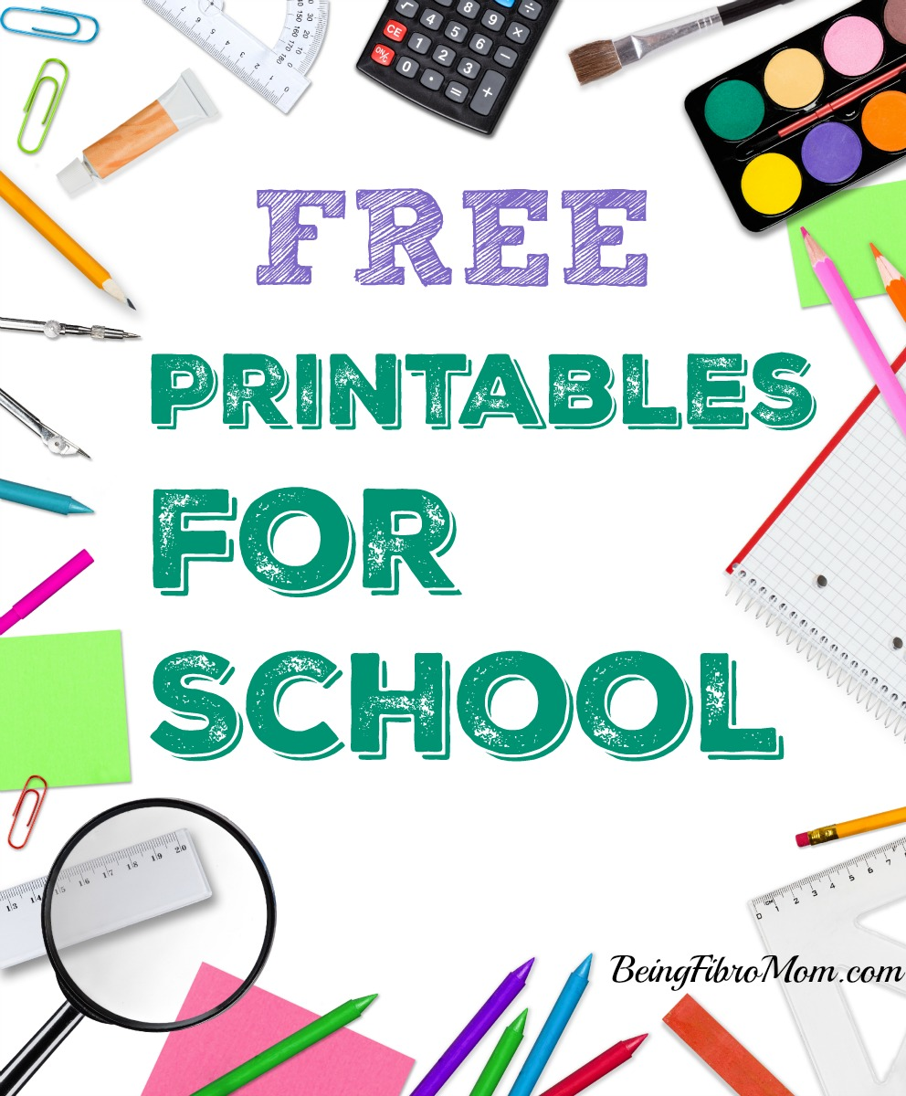 Free Printables for School #printables #school