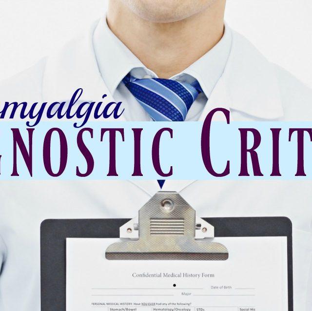 Fibromyalgia Diagnostic Criteria
