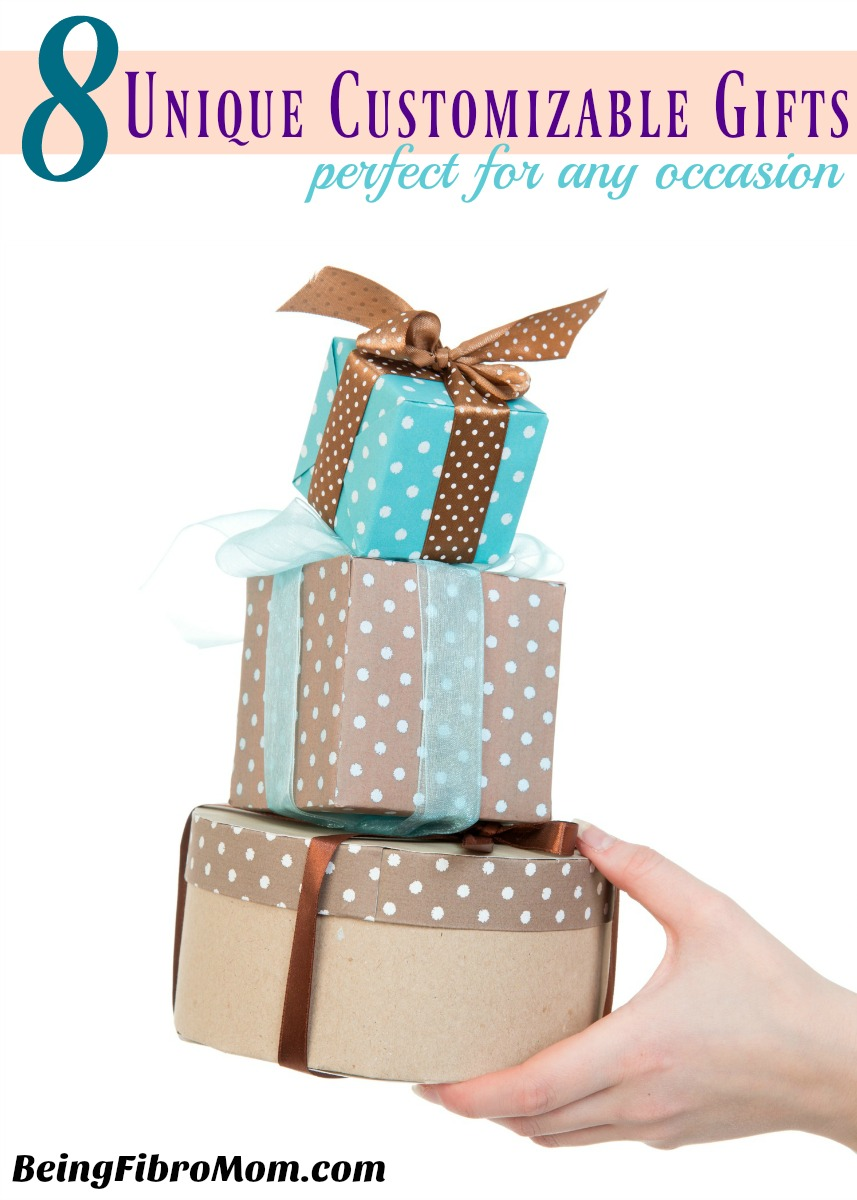 8 unique customizable gifts perfect for any occassion #uniquegifts #BeingFibroMom