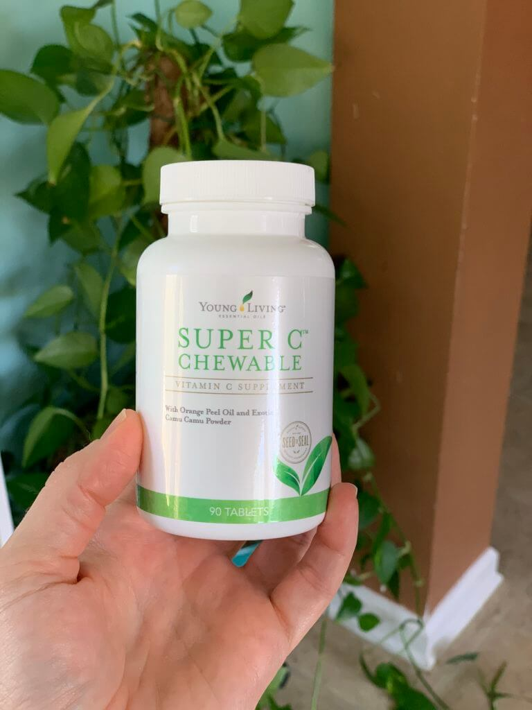 Super C Chewable twice a day #beingfibromom #youngliving #superc