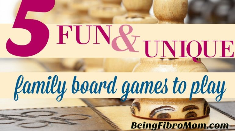 5 Fun & Unique Family Board Games to Play #boardgames #fibroparenting #beingfibromom