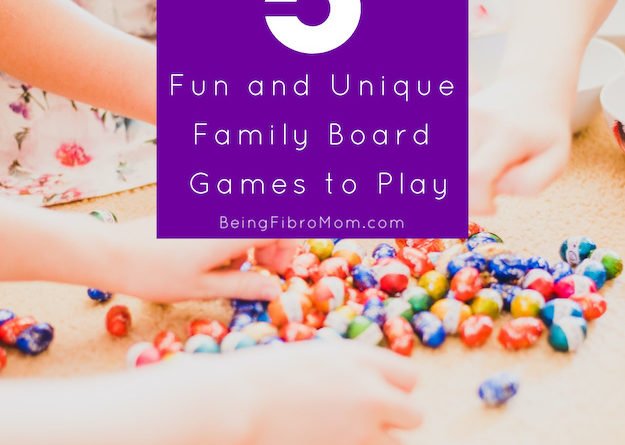 5 Fun & Unique Family Board Games to Play #boardgames #fibroparenting #beingfibromom