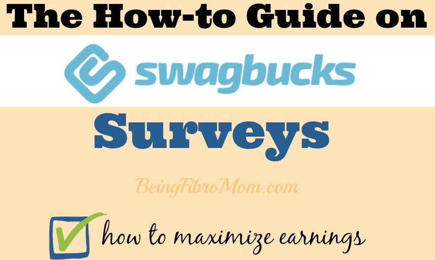 How to Guide on Swagbucks Surveys #Swagbucks #Surveys #BeingFibroMom