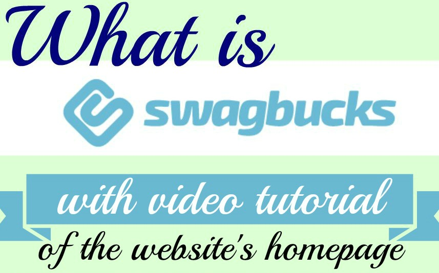 How to use Swagbucks homepage with video tutorial #Swagbucks #beingfibromom