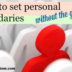Setting personal boundaries