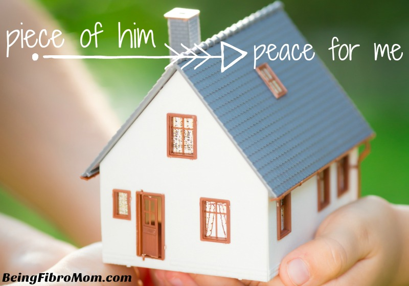 Piece of him peace for me #ps #beingfibromom