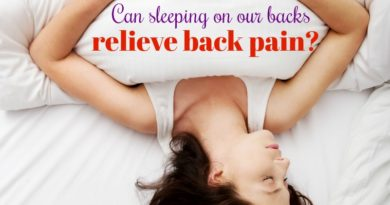 Can sleeping on our backs relieve back pain? #beingfibromom