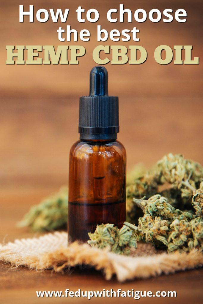 How to choose the best hemp cbd oil #FibroLive