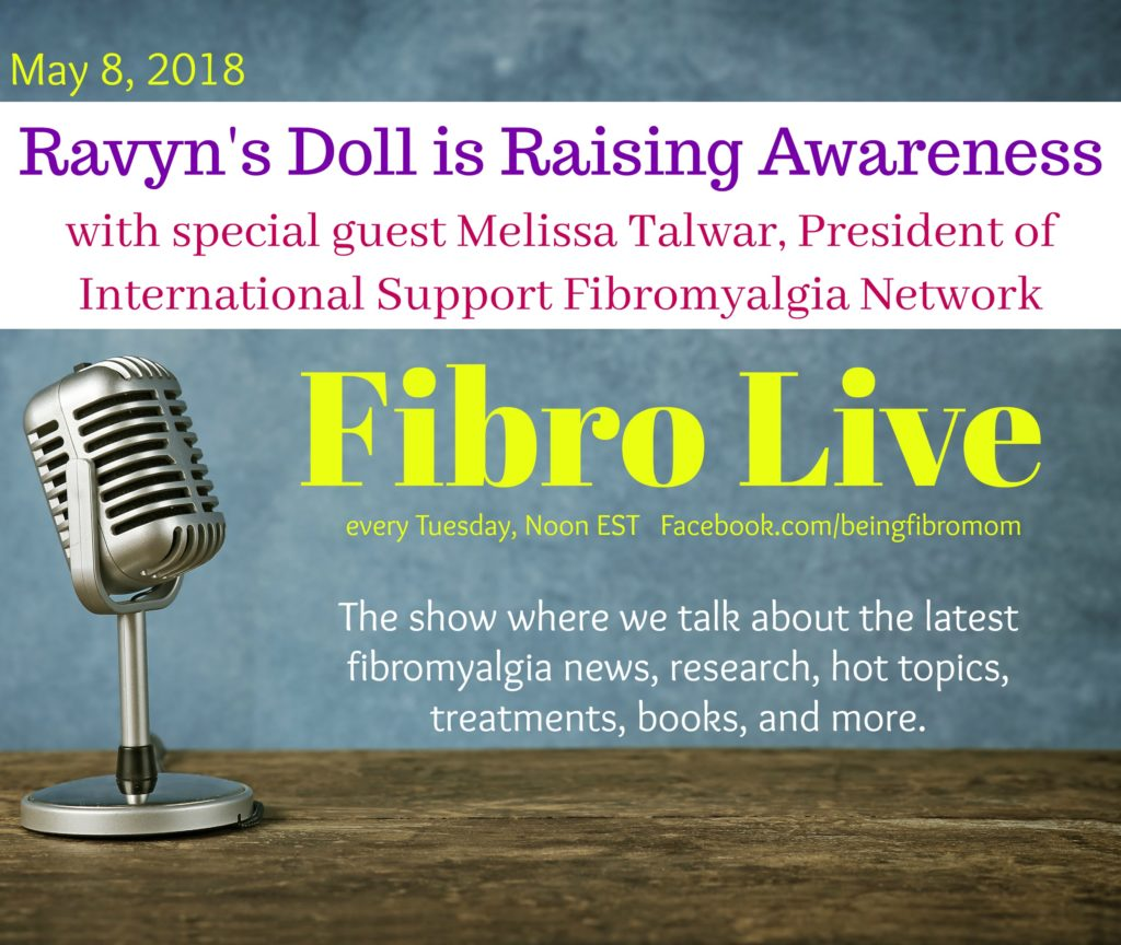 Ravyn's Doll is Raising Awareness #RavynsDoll #FibroLive #BeingFibroMom #Fibromyalgia