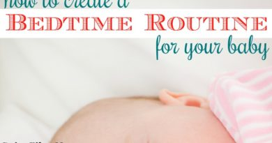 how to create a bedtime routine for your baby #fibroparenting #beingfibromom