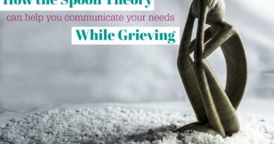 how the spoon theory can communicate your needs while grieving #beingfibromom
