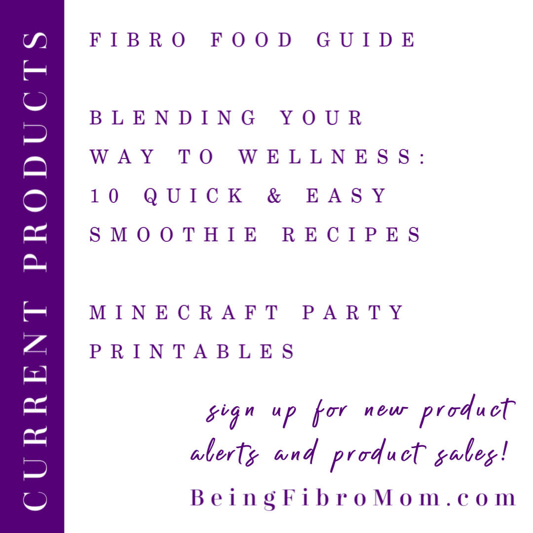 Current Being Fibro Mom products #beingfibromom #fibromyalgia