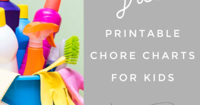 free printable chore charts for kids #beingfibromom #fibroparenting #chorecharts #freeprintable